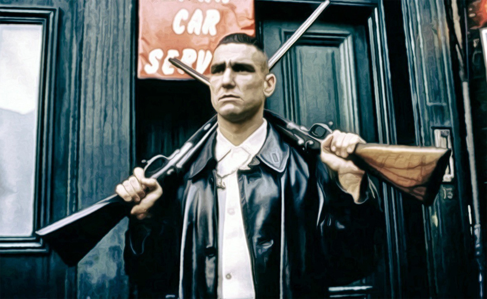 Vinnie Jones in the movie Lock, Stock, Two Barrels.