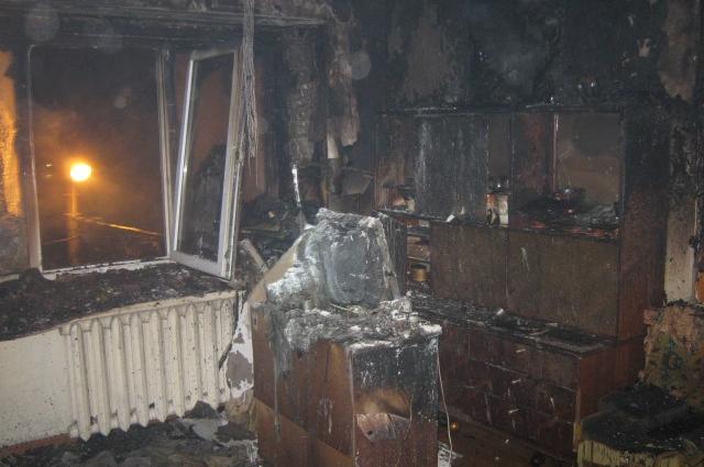 Квартира, в которой начался пожар.