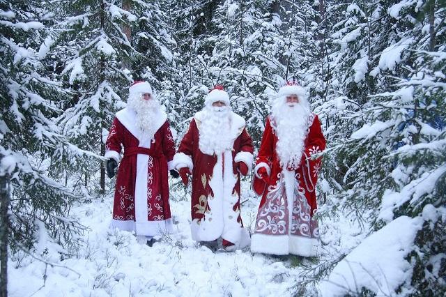 Мороз Воевода с товарищами по Гильдии зимних волшебников.