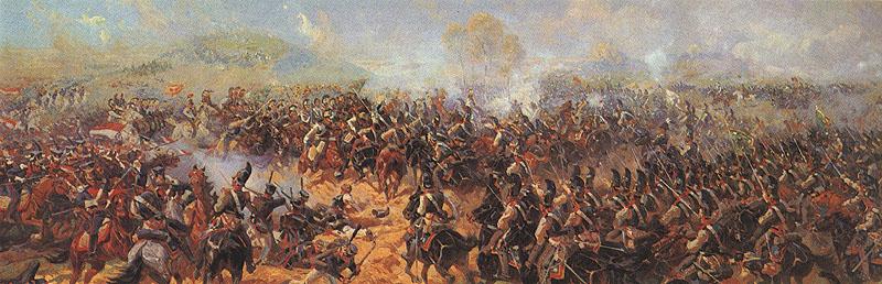 Бородино. Атака на батарею Раевского. Ф.А. Рубо, 1913 г.