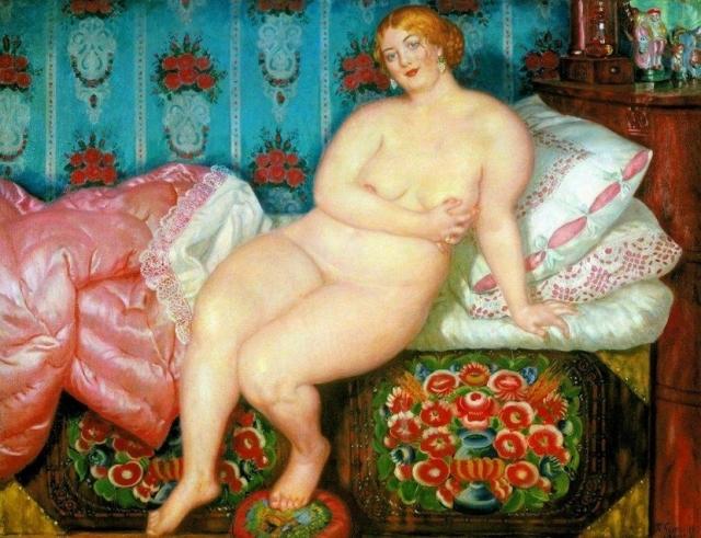 Одной из любимых картин самого художника была «Красавица», написанная им в 1915 году.