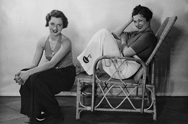 Ольга Чехова с дочерью Адой, 1935 г.
