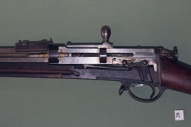 Учебная разрезная модель винтовки Бердана № 2.