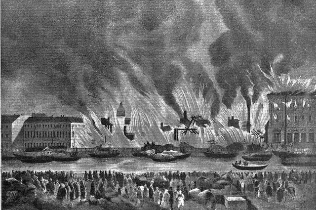 В 1862 году сильный пожар уничтожил большую часть строений рынка.