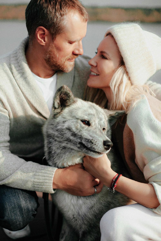 Елена Летучая с мужем.