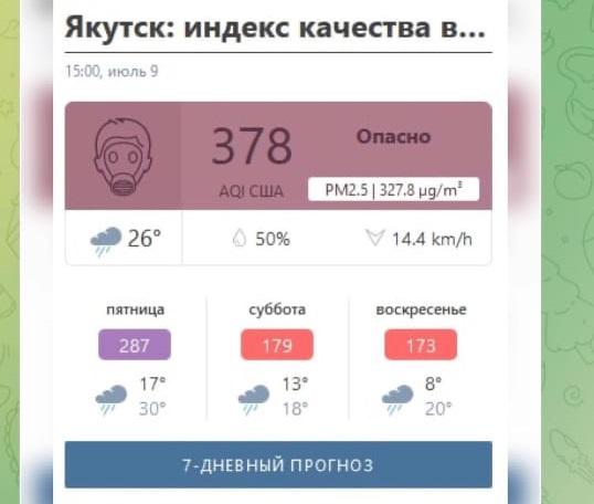Несколько дней жители Якутска задыхались от дыма пожаров в близлежащих районах.