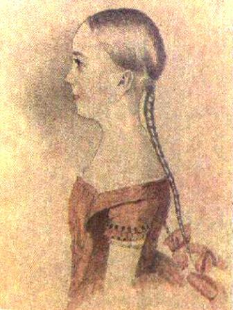 Мария Пушкина в возрасте 12 лет.