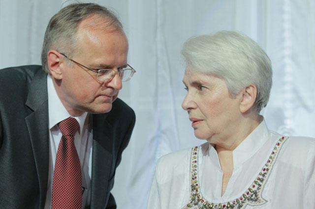 Виктор Москвин и вдова писателя Александа Солженицына Наталья на церемонии вручения премии Александра Солженицына