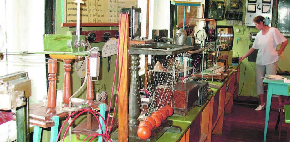 В кабинете физики приборы для демонстрации любого явления.