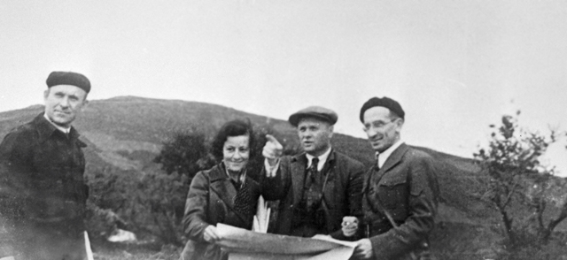 Маршалы Советского Союза Кирилл Мерецков, Родион Малиновский и Александр Василевский (слева направо) на аэродроме в Даляне.