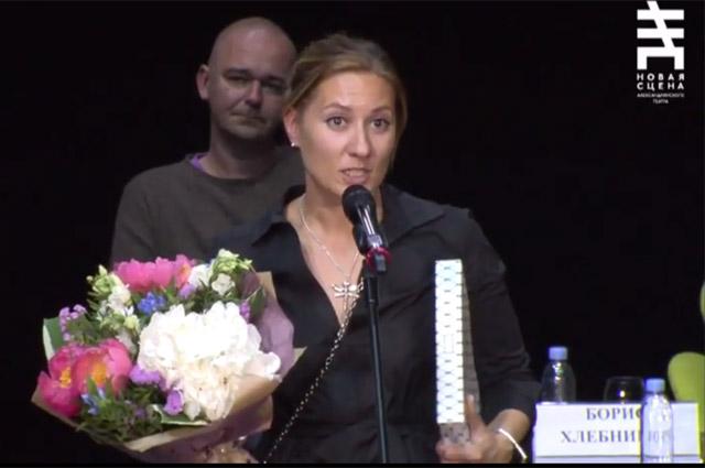 Анна Козлова на церемонии вручения премии «Национальный бестселлер — 2017».