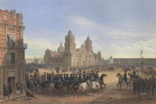 Вступление американских войск в Мехико.