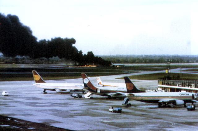 Горящий рейс 28M. Вид из аэропорта Манчестера.