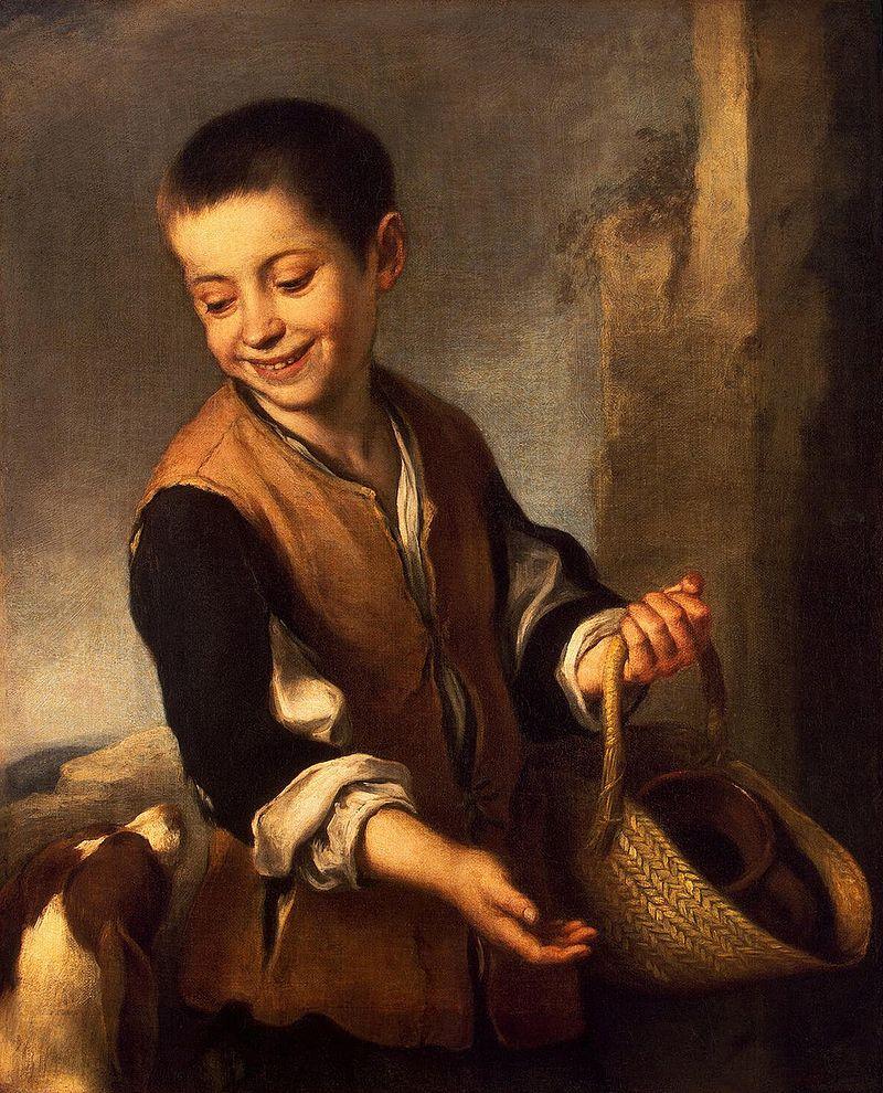 Бартоломе Эстебан Мурильо. Мальчик с собакой.