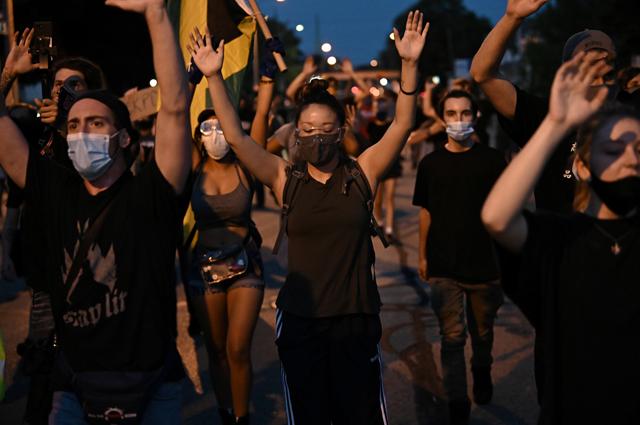 Протесты в Висконсине.