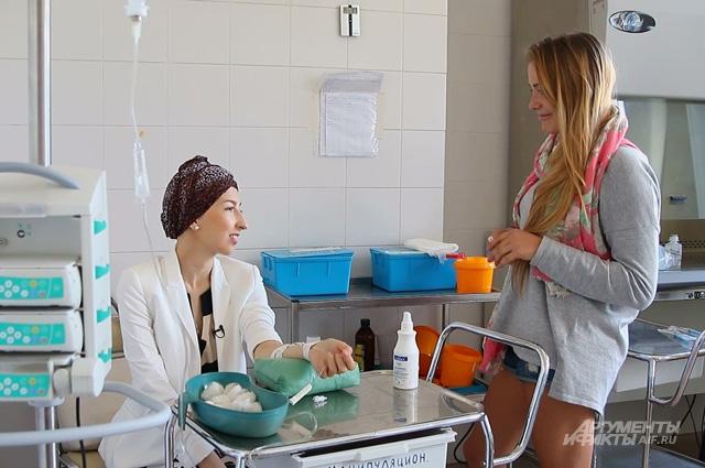 Во время химиотерапии Юля редко остаётся одна