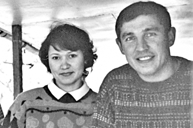 Рустем Салихов с супругой. 2001 год