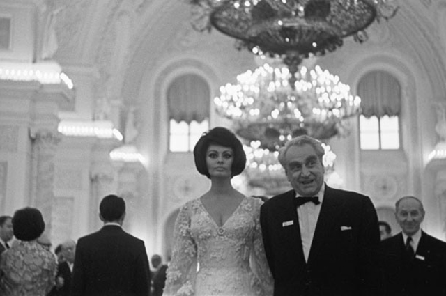 Софи Лорен и Григорий Александров.