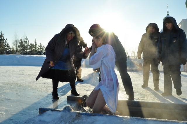 На Крещение обычно очень холодно.