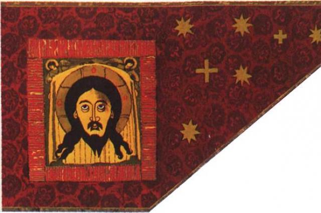 Иван Грозный завоевал Казань со знаменем с изображением Христа.