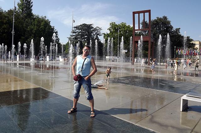 Площадь Наций в Женеве. Никакого асфальта!