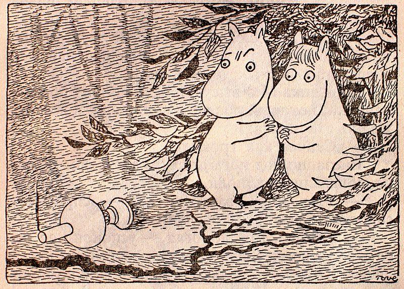 По сложившейся за века традиции все муми-тролли спадали в зимнюю спячку, набив животы хвойными иголками.
