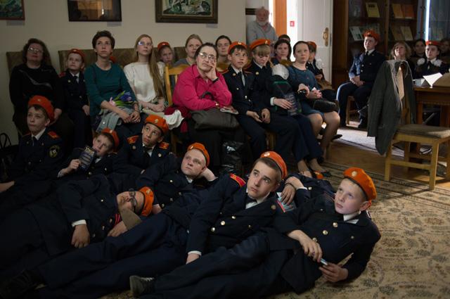 Участники акции «Библионочь» в библиотеке «Дом Гоголя».