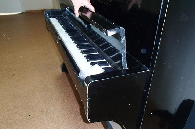 Тайник в пианино оказался не простой задачей.