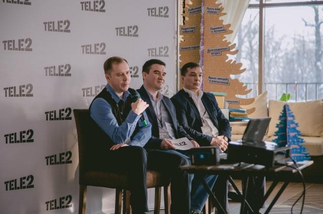 На вопросы журналистов отвечает руководство филиала Tele2 в Чувашии и Марий Эл