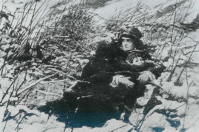 «Бегство Марины Мнишек», картина Леона Яна Вычулковского.