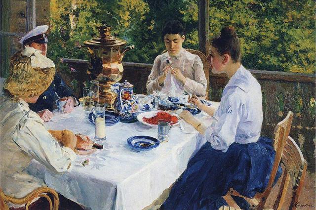 Константин Коровин. «За чайным столом»