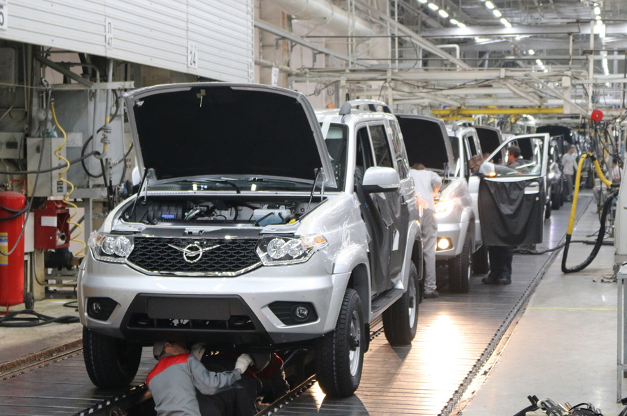 Производство сборки и сдачи автомобилей