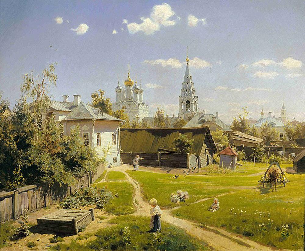 Василий Поленов «Московский дворик» (1878)