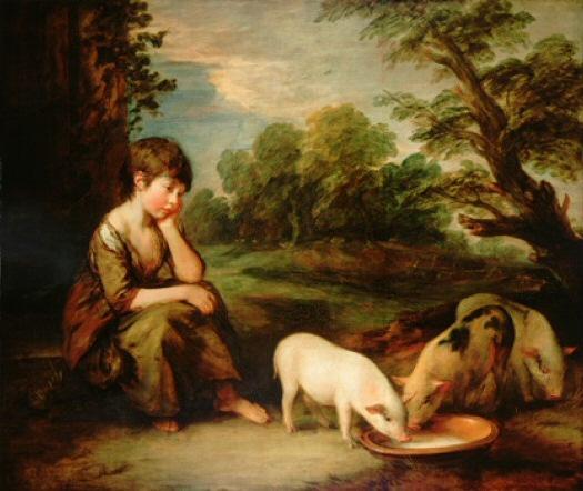Томас Гейнсборо. Девочка со свиньями
