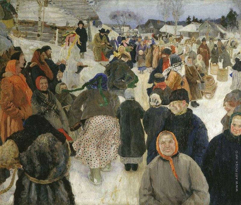 Гавриил Горелов. Ряженные в деревни.