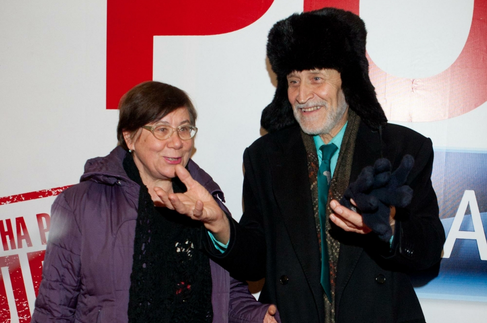 Николай Дроздов с супругой.