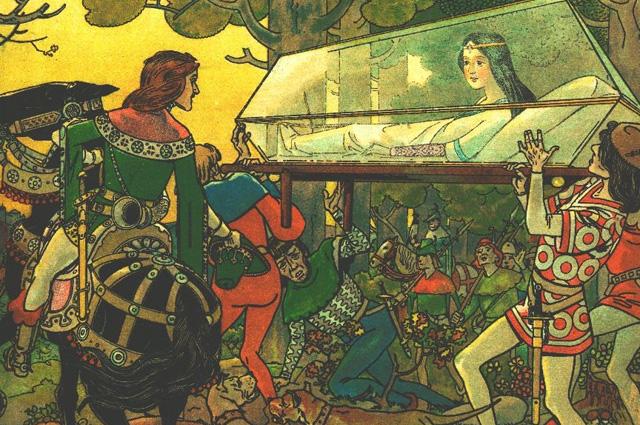 Иллюстрация в сказке Спящая красавица