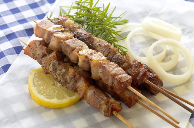 Греческая кухня, мясо, шашлык