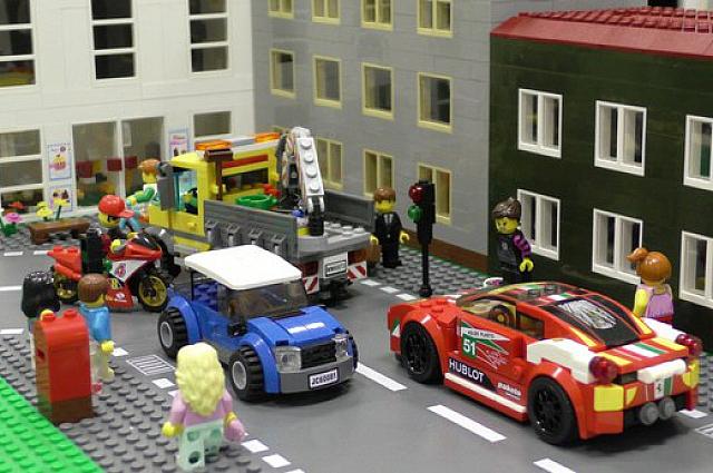 Спальный район города в лего-варианте.