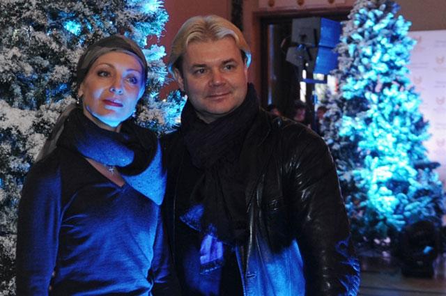 Народные артисты России Илзе и Андрис Лиепа на открытии рождественской программы Зимняя сказка в Метрополе в Москве, 2013 год