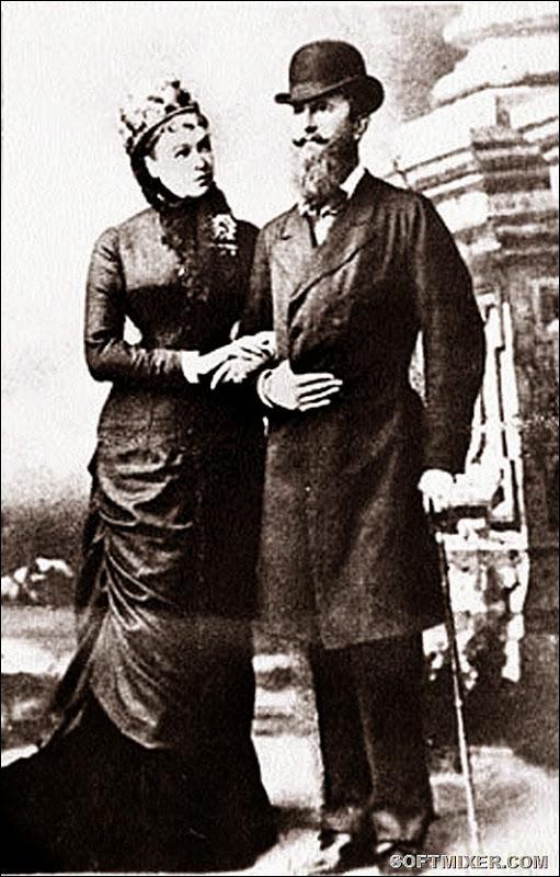 Николай Вильгельм Нассауский с супругой.