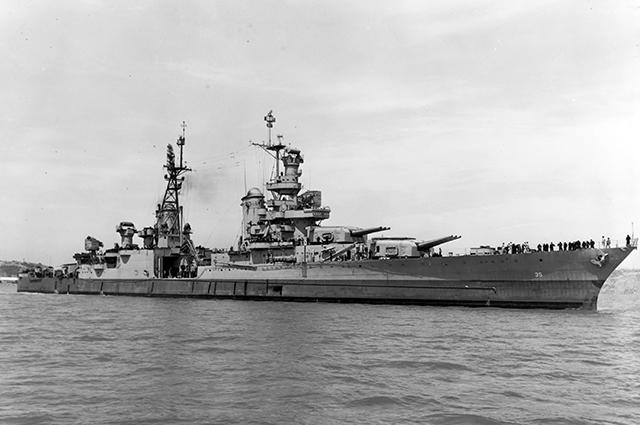 «Индианаполис», 10 июля 1945 года.