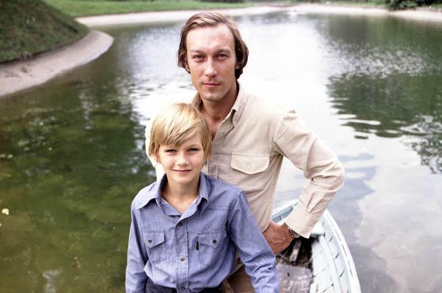 Олег Янковский с сыном.