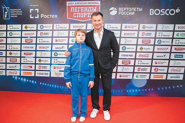 С младшим сыном Дмитрием.