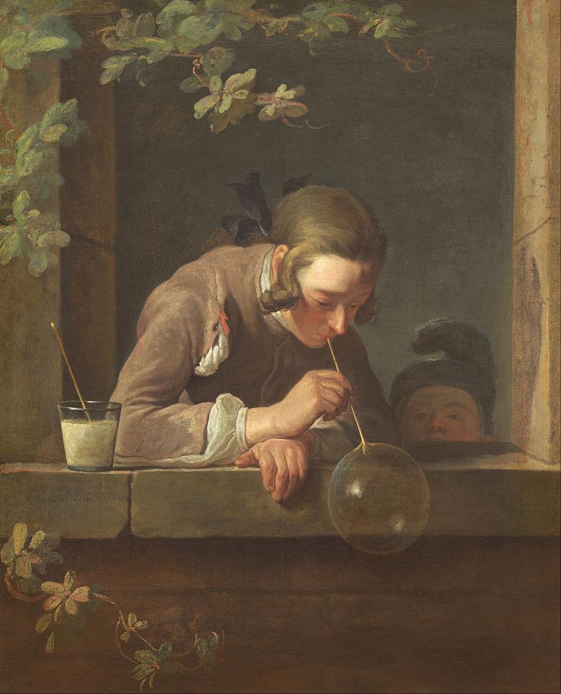 Жан Батист Симеон Шарден. Мыльные пузыри.