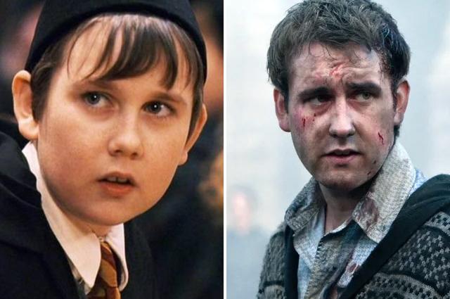 Невилл Долгопупс в фильмах «Гарри Поттер и философский камень», 2001 год и «Гарри Поттер и Дары Смерти», 2010 г.