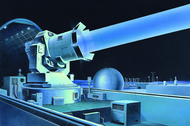 Рисунок, изображающий лазер «Терра-3».