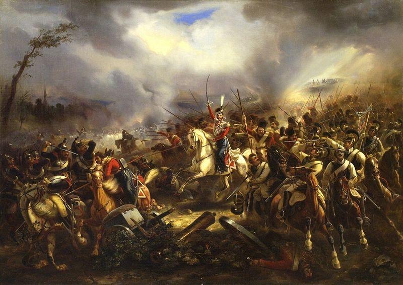 Атака лейб-казаков под Лейпцигом 4 октября 1813 года. Карл Рехлин