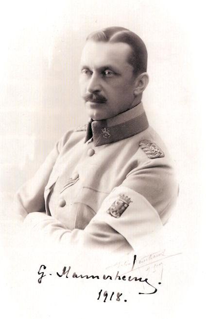 Густав Маннергейм в 1918 году.