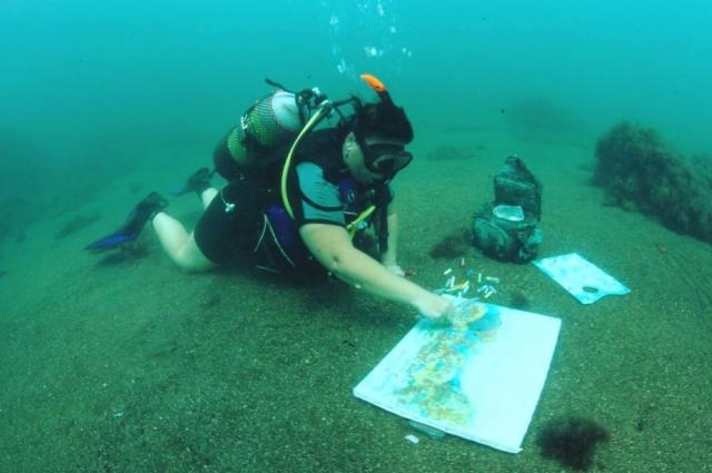 Ирина Протопопова: Я рисовала и ночью, и в шторм, когда вода становится молочно-белого цвета, и подводный мир вообще преображается.